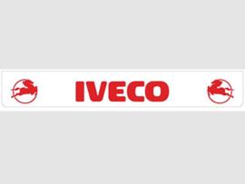 Spatlap achterbumper wit Iveco in rood