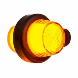 LED PENDELLAMP AMBER, KORTE STEEL & MATTE LENS, DEENS MODEL 12/24V