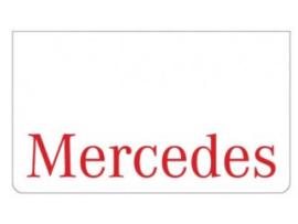 Spatlap voorbumper wit + Mercedes rood
