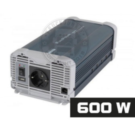 600W - ZUIVER SINUS OMVORMER - PURE POWER 24-220V
