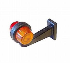Deense breedtelamp halogeen Gylle haaks 195mm rood/oranje