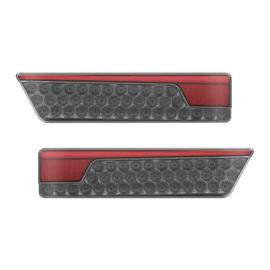 Neon led black  twinpack achterlicht links met dynamisch knipperlicht 12/24v