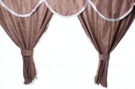 Tussengordijn bruin 150 of 180 cm