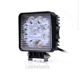Led werklamp vierkant 24 watt 12/24 volt