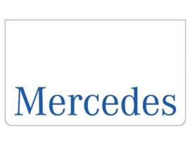 Spatlap voorbumper wit + Mercedes blauw