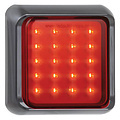 LED mistlicht met zwarte rand 12-24v 10x10cm