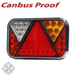 LED achterlicht rechts met geïntegreerde canbus-oplossing & mistlicht 12v 5PIN