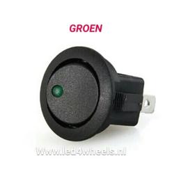 Schakelaar aan/uit groen controle ledje