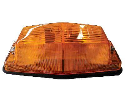 Dubbelbrander met oranje lampglas budget