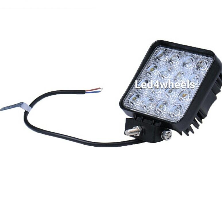 Led werklamp vierkant 43 watt 12v/24v