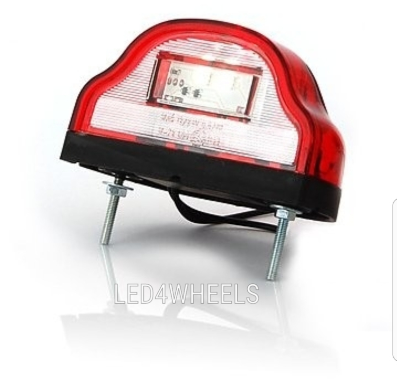 Led kentekenverlichting rood wit 12/24 volt e keur