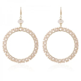 EARRINGS CRINGLE TAUPE