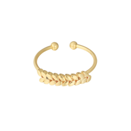 FEATHER ROW RING