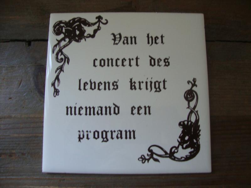 Tegel Van Het Concert Des Levens Verkocht Verkocht