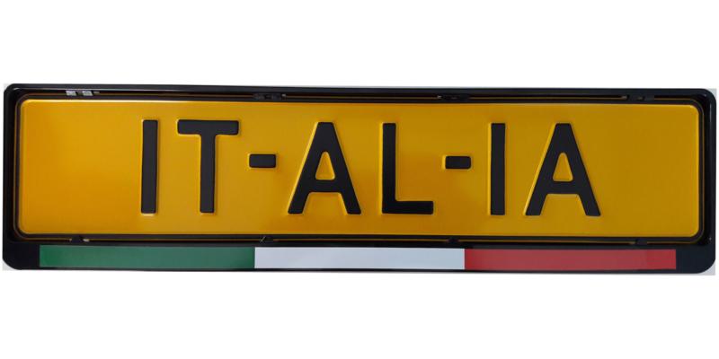 Kentekenplaat-sticker ''Italiaanse vlag''
