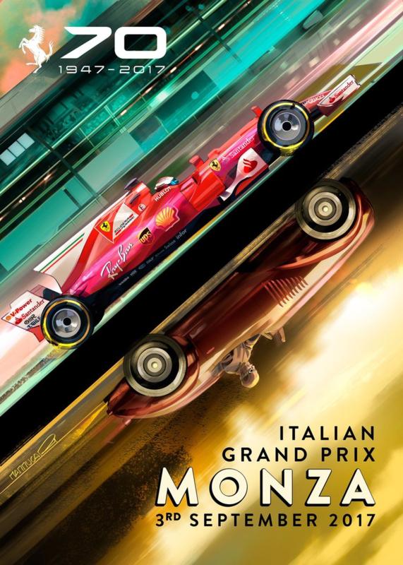 Ferrari Poster F1 MonzaGP 2017