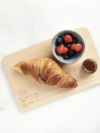 Houten ontbijtplankje met tekst – jij en ik