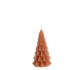 Kerstboom kaars klein - brique