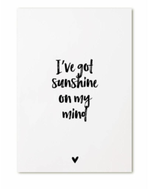 Zoedt kaart A6 - I've got sunshine on my mind