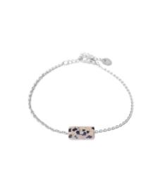Armband - Dalmatian Jasper Silver