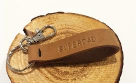 SIL- Leren sleutelhanger SUPERDAD