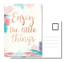Pand label A6 kaart - Enjoy the little things