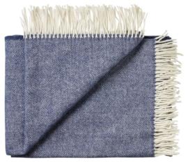 silkeborg plaid Sevilia navy blauw 50% merino 50% alpaca