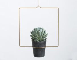 Plantenhanger Quadra antiek goud
