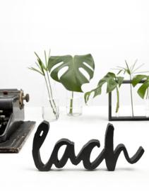 houten letters - lach