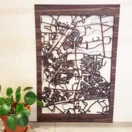 Zutphen - houten stadsplattegrond 40x60 cm