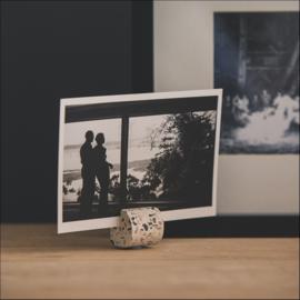 Terrazzo fotohouders wit - set van 3