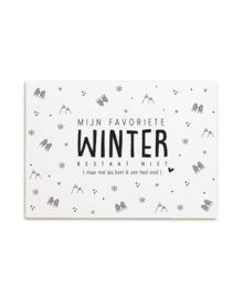 Zoedt kaart A6 - Mijn favoriete winter bestaat niet