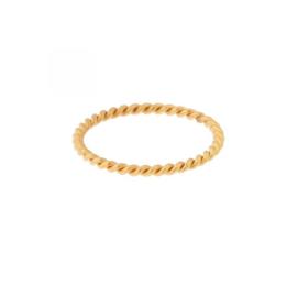 Ring basic twisted - goud
