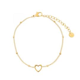 armband open hartje - goud