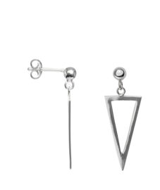 Hanging Triangle Earring - zilver