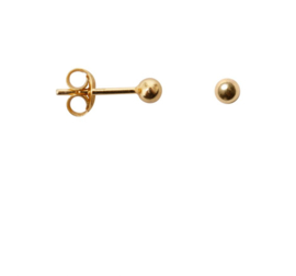 Dot medium earring - goud