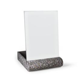 Terrazzo spiegel  & accessoires houder - grijs