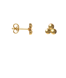 Earring triangle dot - goud