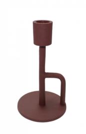 kandelaar coco 16 cm - poedercoat plum