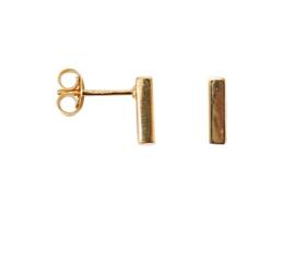 Bar earring small - goud