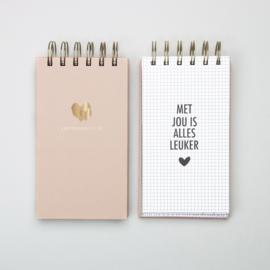 Notitieblok - Liefdesbriefjes
