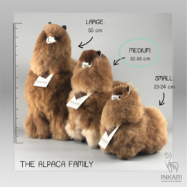 alpaca knuffel van echte alpacawol - MEDIUM