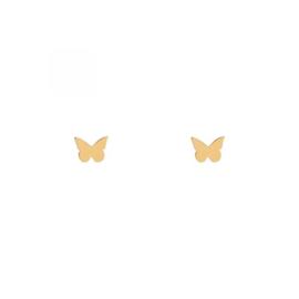 Stud earrings BUTTERFLY - goud
