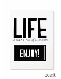Zoedt kaart A6 - Life is like a box of chocolate Enjoy!