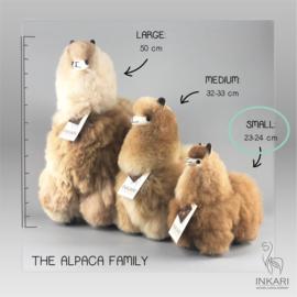 alpaca knuffel van echte alpacawol - SMALL