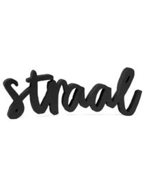houten letters - straal