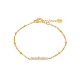 Armband - Marble tube gold