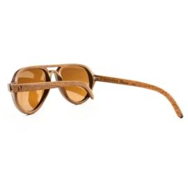 Houten zonnebril (gepolariseerd) - Puka