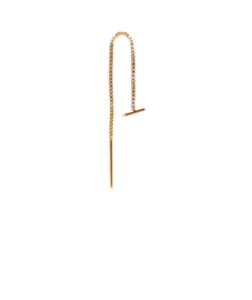 Bar chain earring  - goud