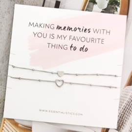 Armband kaart - Making memories with you